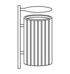 Public litter bin icon outline style vector
