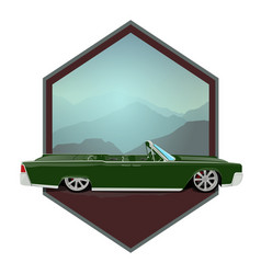 retro gangster car car icons in flat classic vector image vector image