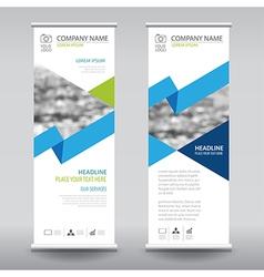 Roll up business brochure flyer banner design vector