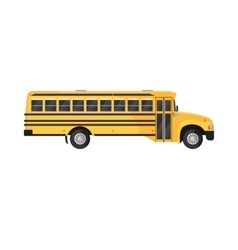 School Bus Icon on white background vector image vector image