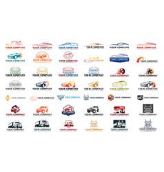 Set car logo vector