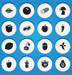 Set of 16 editable cookware icons includes vector
