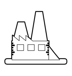Sketch silhouette image building industrial vector
