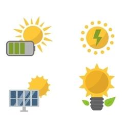 Sun solar energy set vector