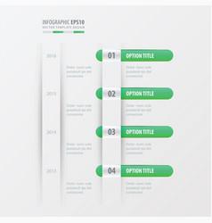 timeline design green gradient color vector image