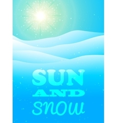 Winter background with snow vector