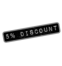 5 percent discount rubber stamp vector