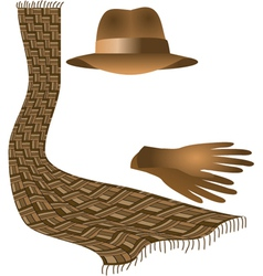 Hat scarf gloves vector