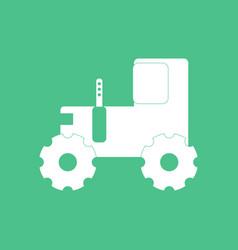Icon children tractor silhouette vector