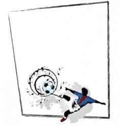 soccer border vector image