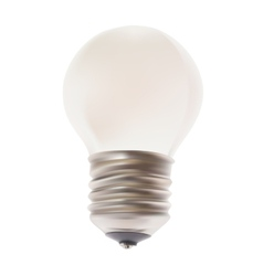 White lamp isolated on the background vector