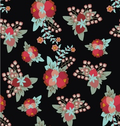 Floral vintage pattern romantic vector