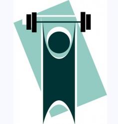 man lifting vector image