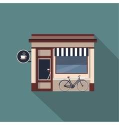 Restaurants and shops facade storefront vector