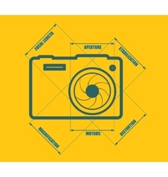 Photo camera icon  main parameters vector