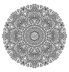Decor floral mandala vector