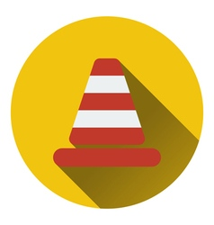 Icon of traffic cone vector
