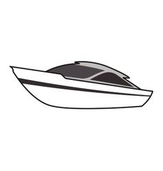 Yacht boat theme design icon vector