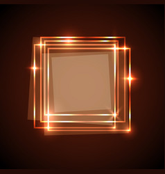 Abstract background with orange squares banner vector