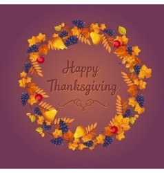 Autumn thanksgiving banner with leaves and black vector