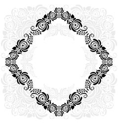 black and white vintage frame vector image