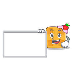 Bring board pose waffle character cartoon design vector