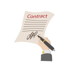 Business contract with signature icon vector image vector image