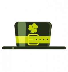cartoon green hat vector image