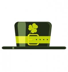 cartoon green hat vector image vector image