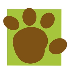 Cartoon paw vector image vector image