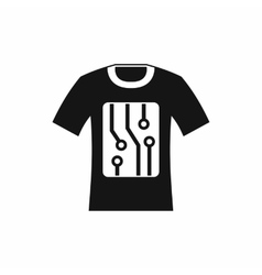 Electronic t-shirt icon simple style vector image