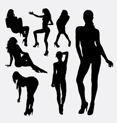 Girl sexy female silhouette vector image vector image