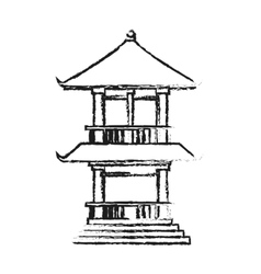 Isolated china tower design vector