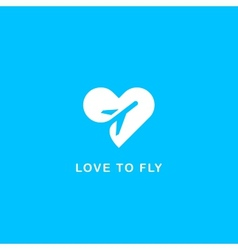 Love to fly symbol vector image vector image