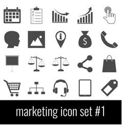 marketing icon set 1 gray icons on white vector image