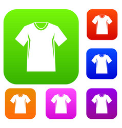 men tennis t-shirt set collection vector image vector image