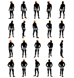Mens silhouette vector image vector image