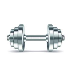 Metal realistic dumbbell vector