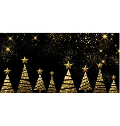 New Year background with Christmas trees vector image vector image