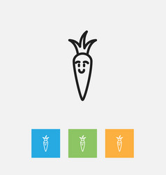 Of vegetable symbol on root vector