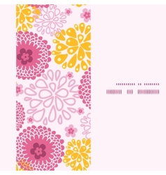Pink field flowers vertical frame seamless pattern vector