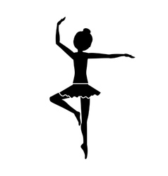 Silhouette with dancer pirouette third position vector