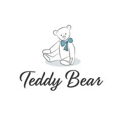 Teddy Bear with bow vector image vector image