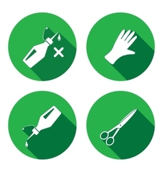 Tool icons set Glue rubber gloves scissors vector image vector image