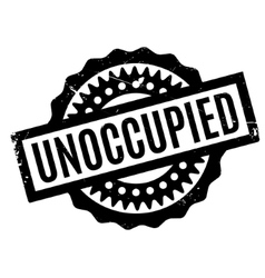 Unoccupied rubber stamp vector