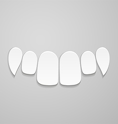 Upper front teeth vector