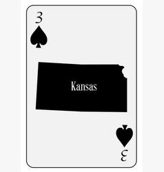 usa playing card 3 spades vector image vector image
