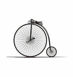 vintage bicycle vector image vector image