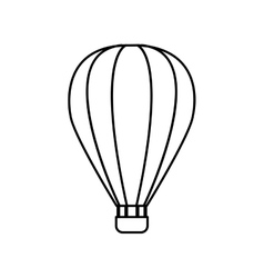 Hot air balloon transportation icon vector