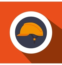 Helmet protection industrial icon vector